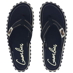 Gumbies Islander Canvas Flip Flops - Black