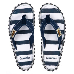 Gumbies Islander Canvas Flip Flops - Deck Chair