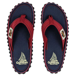 Gumbies Islander Canvas Flip Flops - Navy Coast