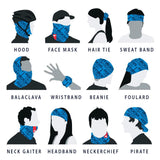 Rooster UV NECK SLEEVE FACE COVERING (Signal Blue)