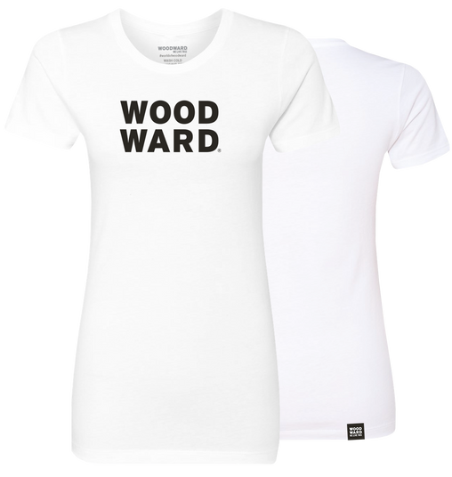 Womens Stacked Woodward Logo Short Sleeve T-Shirt