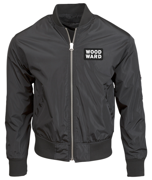 WOODWARD STACKED LOGO BOMBER