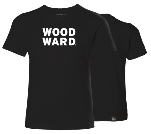 Woodward Youth Stacked Logo Black Short Sleeve T-Shirt