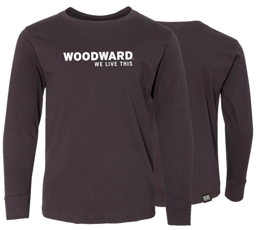 """We Live This"" Youth Woodward Line Logo Long Sleeve T-Shirt"