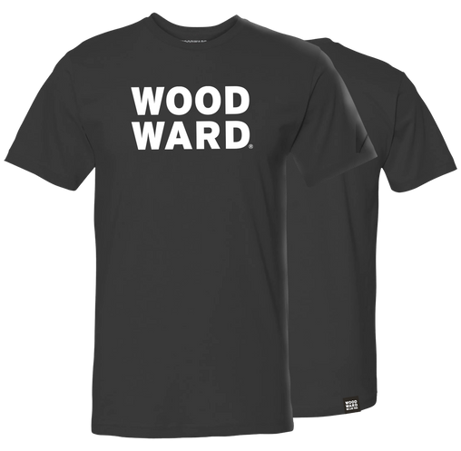 Woodward Stacked Logo Black Short Sleeve T-Shirt