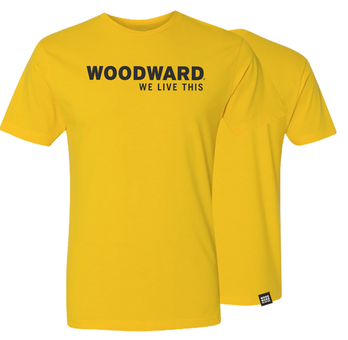 """We Live This"" Woodward Line Logo Short Sleeve T-Shirt"