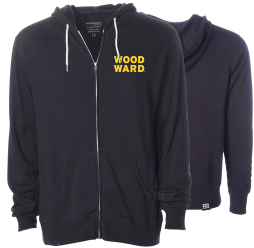 Woodward Stacked Logo Yellow Black Zippered Hoodie