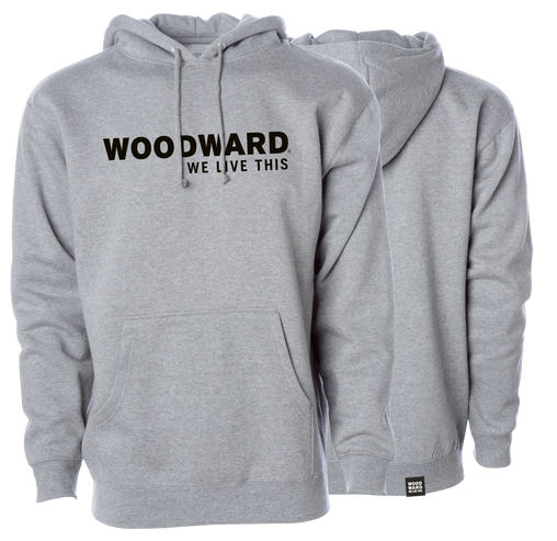"""We Live This"" Woodward Line Logo Hooded Pullover"