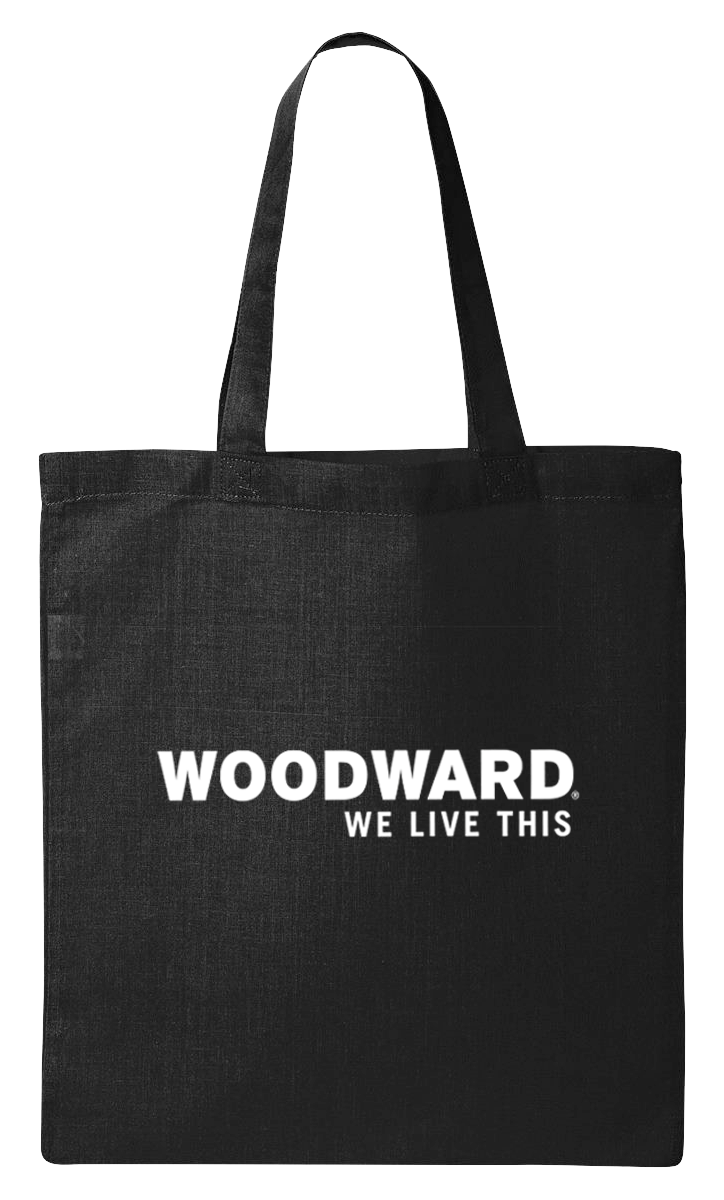 """We Live This"" Woodward Line Logo Black Tote Bag"