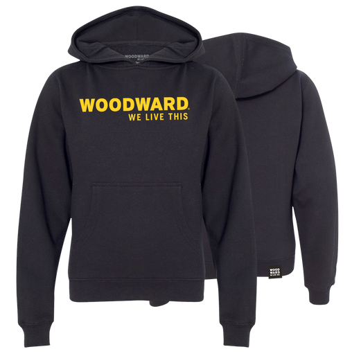 """We Live This"" Youth Woodward Line Logo Hooded Pullover"