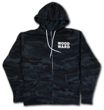 Woodward Stacked Logo Black Camo Zippered Hoodie