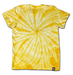 Youth Woodward Stacked Logo Yellow Pinwheel Tie Dye