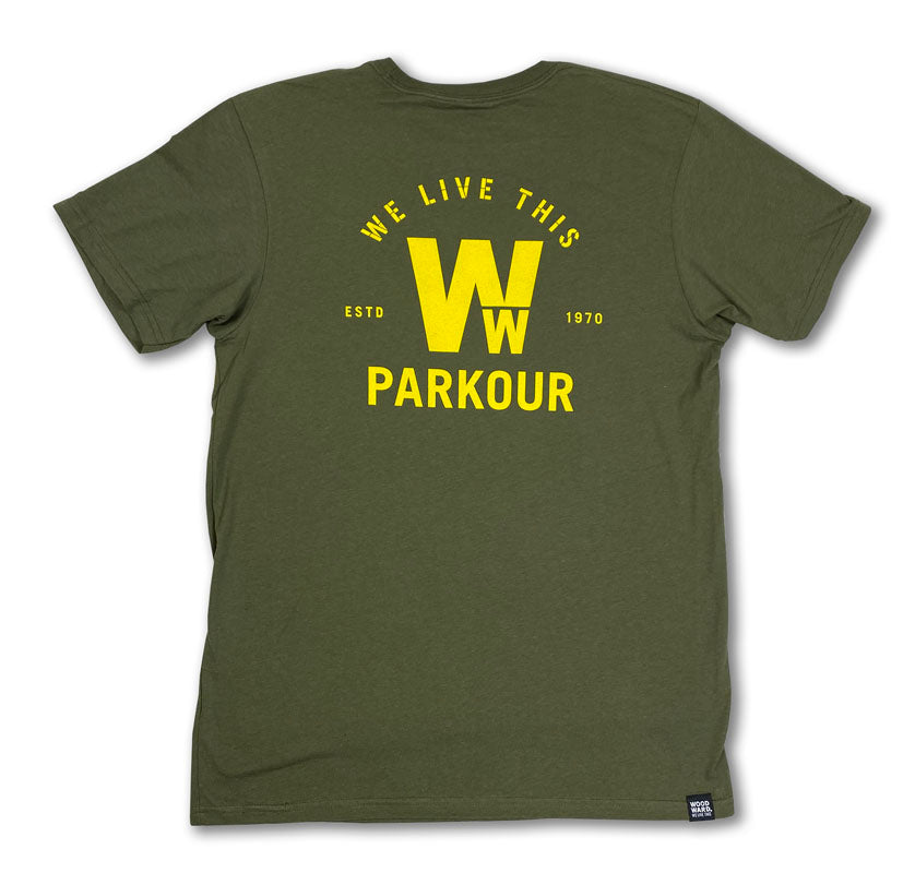 "Woodward Parkour ""We Live This"" Short Sleeve T-Shirt"