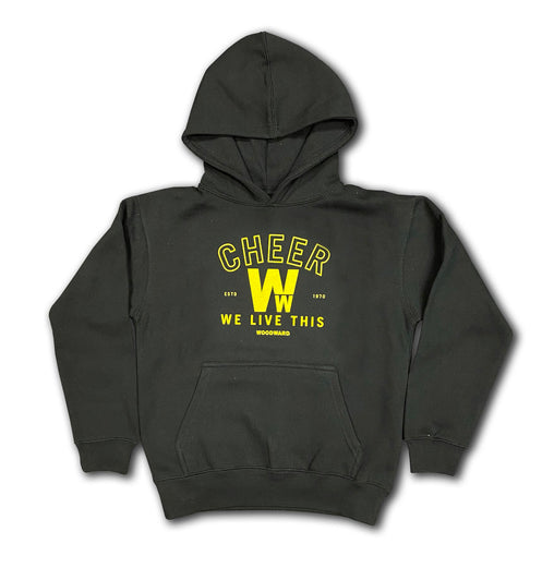"Cheer ""We Live This"" Youth Hooded Pullover"