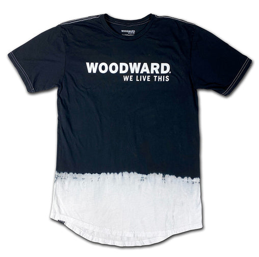 """We Live This"" Woodward Line Logo Dip Dye Tall Tee"