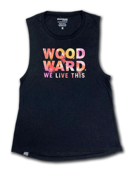 "Woodward ""We Live This"" Watercolor Womens Tank"
