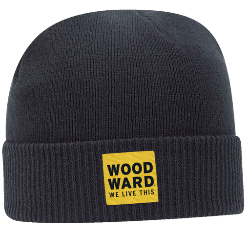 Woodward Stacked Logo Woven Patch Beanie