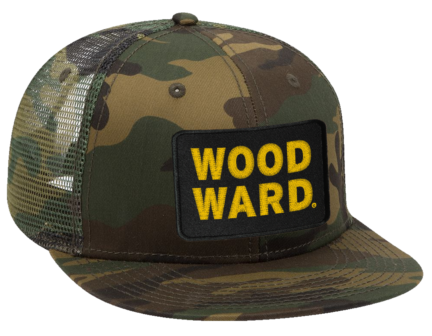 Woodward Stacked Logo Patch Camo Hat