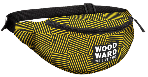 WOODWARD STACKED LOGO HASHMARK FANNY PACK