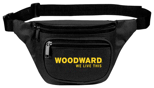 WOODWARD LINE LOGO BLACK FANNY PACK