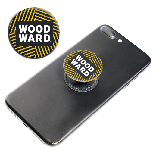 WOODWARD Stacked Logo Hashmark Pop Socket