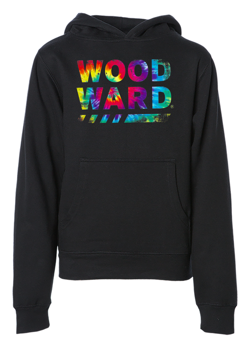 WOODWARD STACKED TIE DYE PULLOVER HOODED SWEATSHIRT