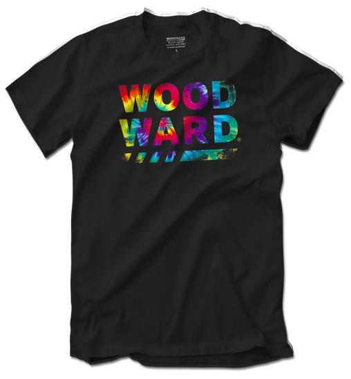 WOODWARD STACKED TIE DYE T-SHIRT