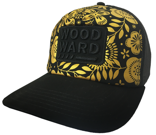 WOODWARD DICKIES TRUCKER HAT STACKED METALLIC FLORAL