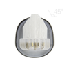 45 degree head, tufted toothbrush, soft bristles, cleans below gumline, polish teeth