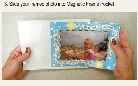 Magnetic picture frames are easy to use