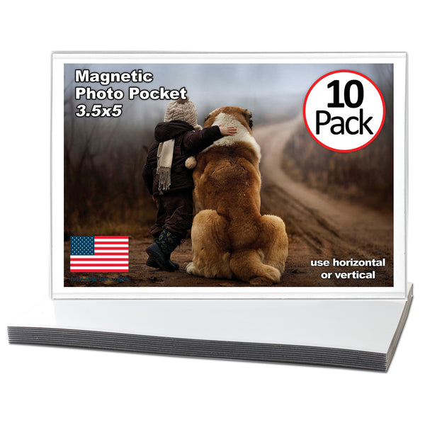 10 Pack of 3.5x5 inch magnetic photo pocket frame (3x5)