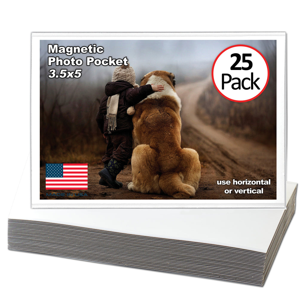 3.5 inch by 5 inch magnetic picture frame 25 pack