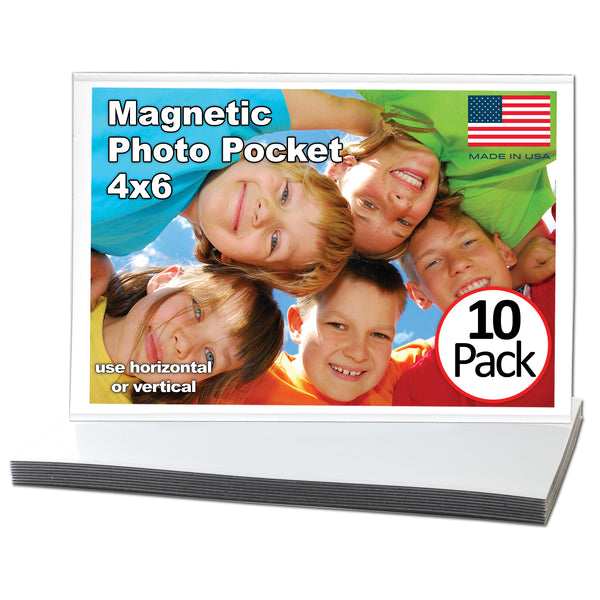 4 inches by 6 inch Magnetic Picture Frame 10 Pack