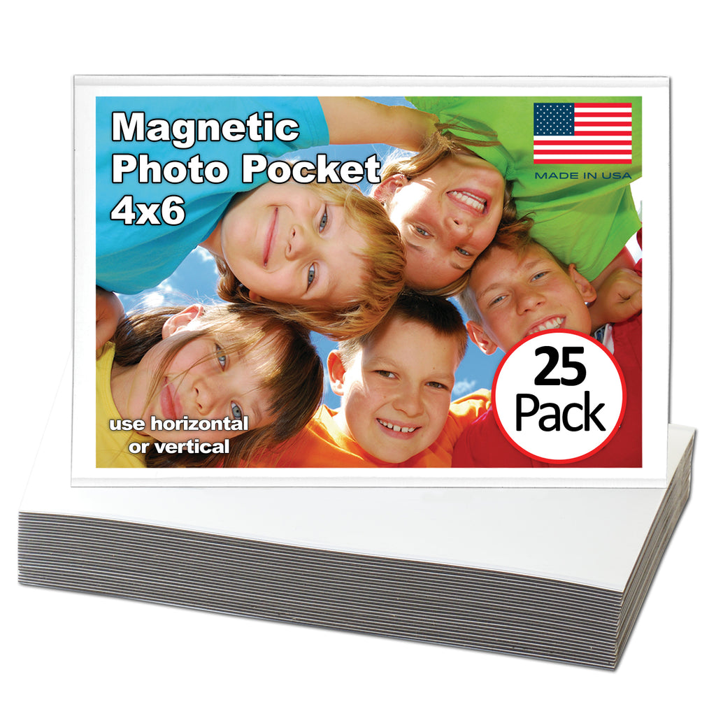 large pack of magnetic picture frames, 25 count