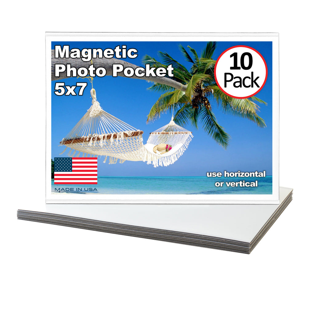 5 x 7 magnetic photo pockets, 10 pack