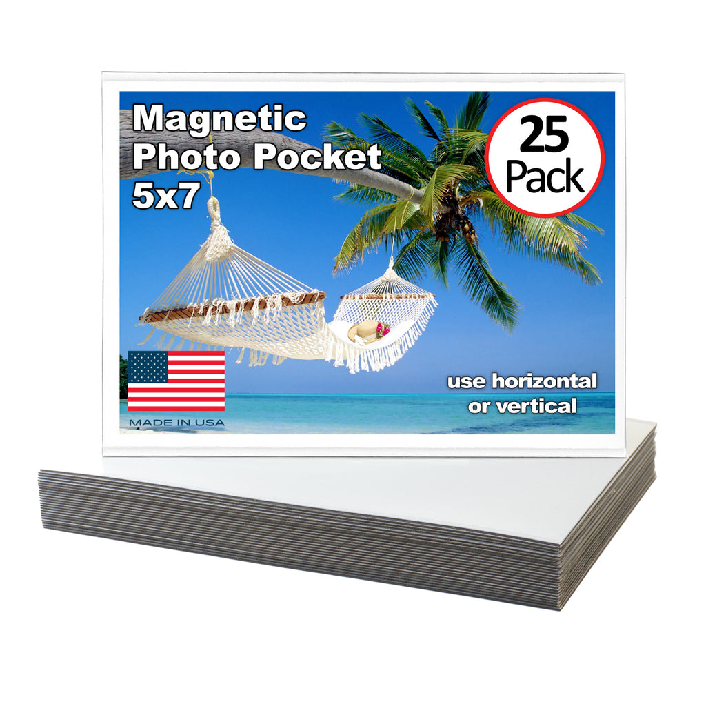 5x7 Magnetic Photo Pocket Picture Frame | 25 Pack