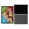 black magnetic picture frame photo pocket, 4x6