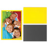 Yellow 4 inch by 6 inch magnetic photo pocket frames