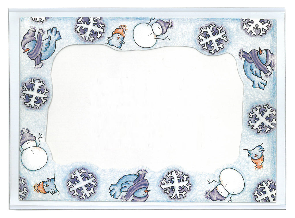 winter snowman picture frame for fridge, 4x6
