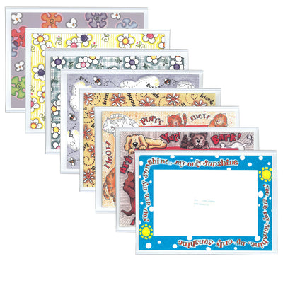 Magnetic photo pocket picture frame fun designs, 4x6