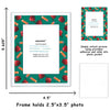 green apple border picture frame for school pictures