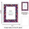 purple apple border magnetic picture frame school photos
