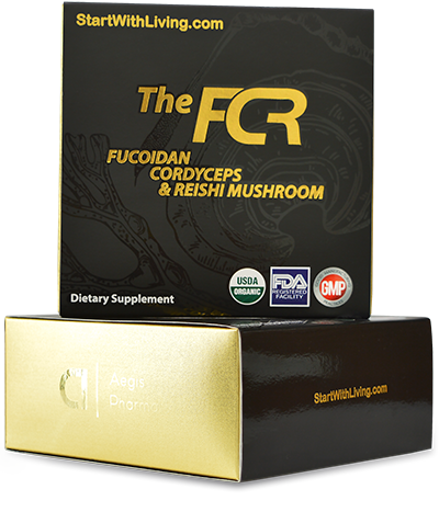 the fcr bottles with fucoidan, cordyceps and reishi mushroom