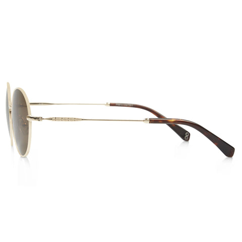 Ale Sunglasses Ollie Quinn Gold Metal Brown Lenses