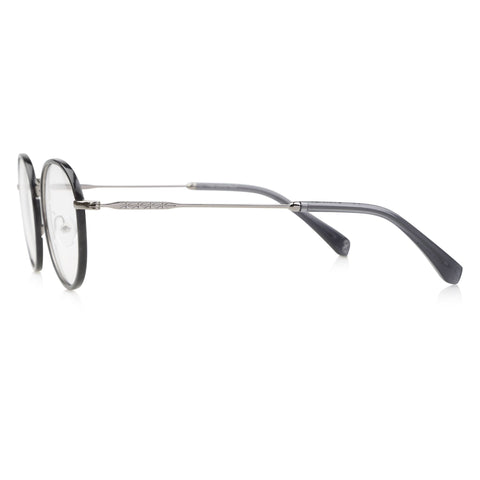 Alex Windsor Prescription Glasses Silver metal blue windsor side
