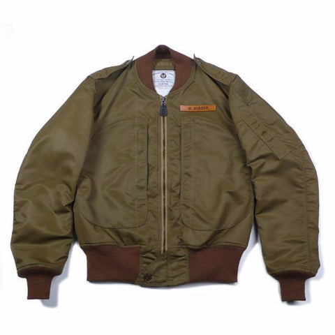 【uscountrystore】-  BIRDIE MADEBIRDIE MADE L-2 FLIGHT JACKET, T.A.I.U. TECHNICAL AIR INTELLIGENCE UNIT, TEST SAMPLE 1945