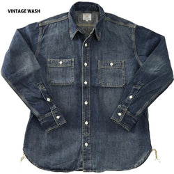 HOUSTON - USA COTTON DENIM WORK SHIRT #40511 美國棉 丹寧工作襯衫