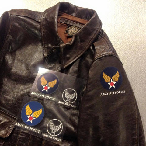 【uscountrystore】-  MIMURA YOKOMIMURA YOKO ARMY AIR FORCES / ARMY AIR CORPS / AAF DECAL for A-2, B-3, D-1 Leather flight jacket.