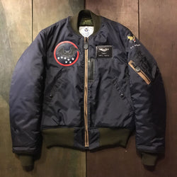 "【uscountrystore】-  BIRDIE MADEBIRDIE MADE B-15C(MOD) FLIGHT JACKET, Para Lining, Nationalist Chinese Air Force 34th SQ ""BLACK BATS"" 1955"