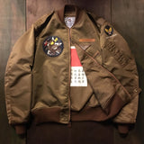 【uscountrystore】-  BIRDIE MADEBIRDIE MADE L-2 FLIGHT JACKET, C.B.I. 373rd BOMB SQ, THEATER MADE STYLE 1945